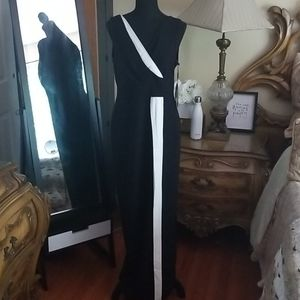 Karl Lagerfeld  Black and White Sleeveless Gown